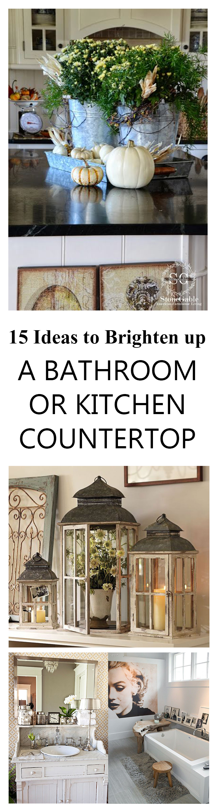 15 Ideas to Brighten up a Bathroom or Kitchen Countertop (1)