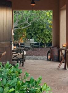 mulch house to backyard