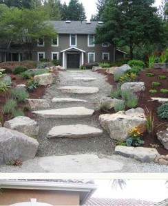 mulch pathway to house