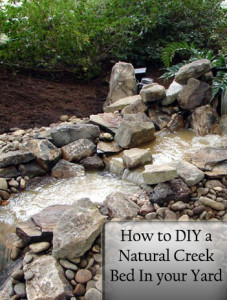 How to DIY a Natural Creek Bed in Your Yard