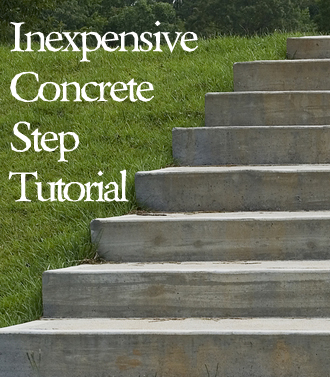 simple concrete steps tutorial