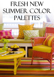Fresh New Summer Color Palettes to Love