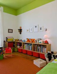 ceiling bright green kids room
