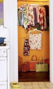 closet painting orange