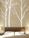decal tree above headboard