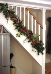 banister bottom Christmas
