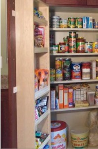 pantry door storage