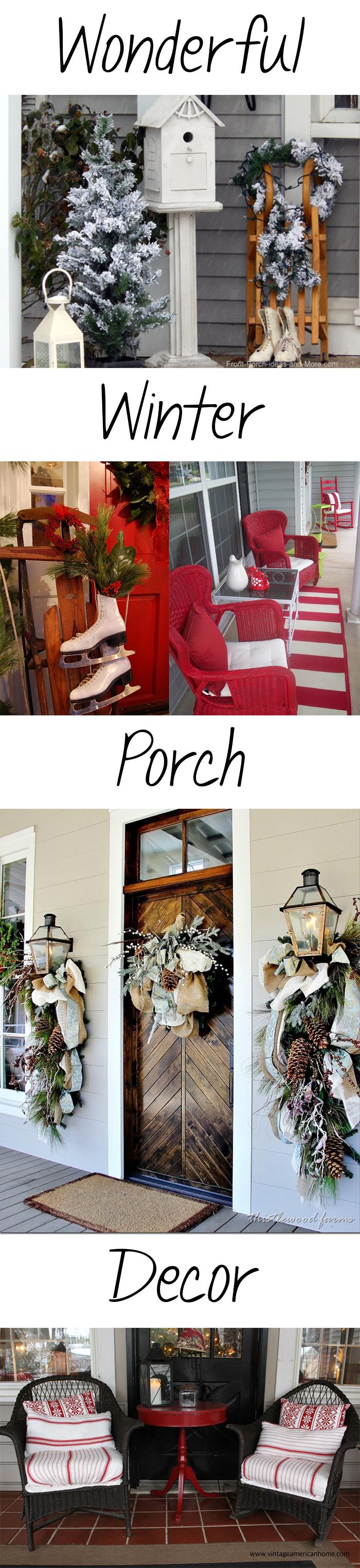 wonderful winter porch decor
